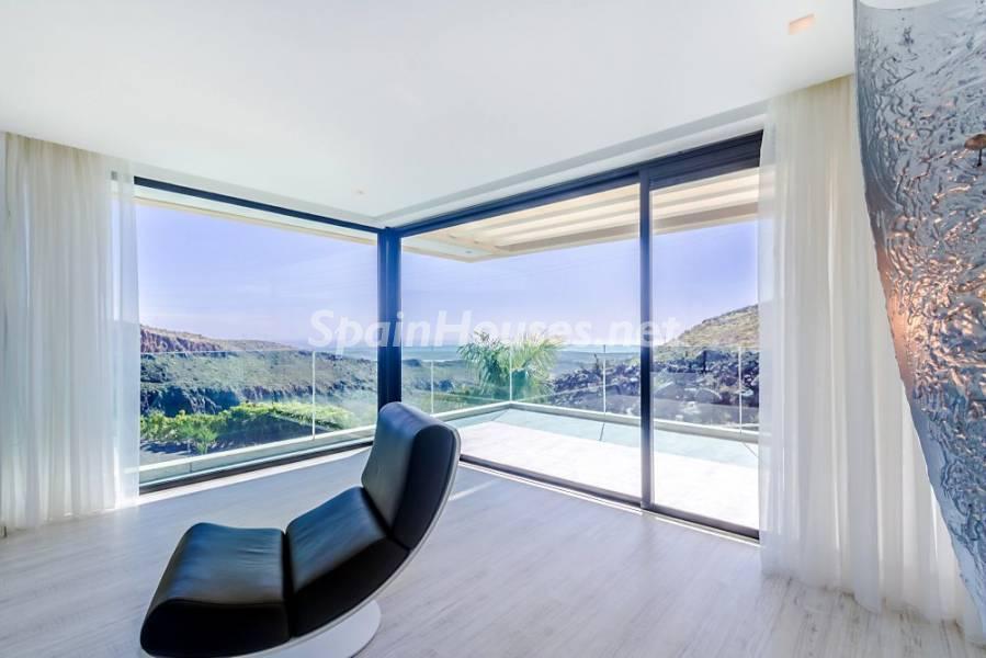 vistas salon - Fantástica casa de diseño moderno en Monte León, San Bartolomé de Tirajana (Las Palmas)