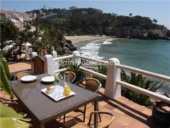 vistas3 - Casa de la Semana: Bonito adosado en primera línea de mar en Cala Crancs, Salou (Tarragona)