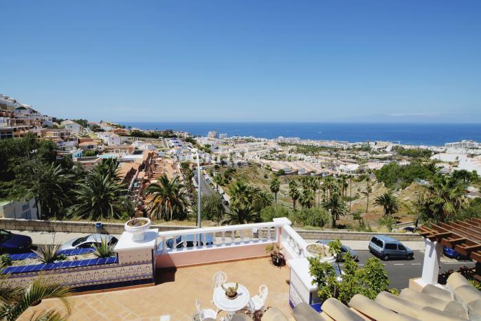 vistas7 - Bonita casa con encanto y estupendas vistas al mar en Costa Adeje, Tenerife (Islas Canarias)
