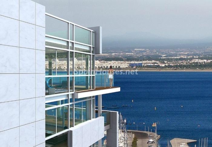 vistas8 - Fantástico ático frente a la playa y el puerto deportivo de Roses, Costa Brava