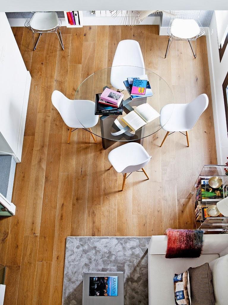 """vistasuperior saladeestar 768x1024 - Toque """"trendy"""" en Madrid, en un precioso loft cálido, femenino y moderno"""